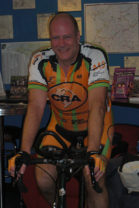 Dr. Karl Johnson at Cycling Class