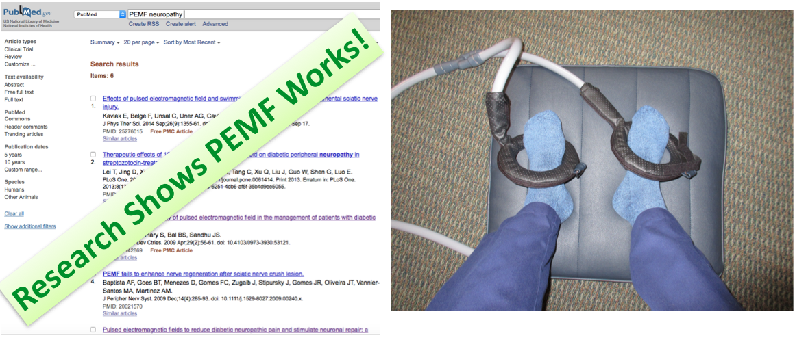PEMF Helps Nerves Repair - PubMed References